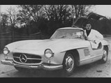 1954 Mercedes-Benz 300 SL Gullwing  - $Harry Forss, former employee of Philipsons, Mercedes-Benz distributor in Stockholm, poses with an early Gullwing in 1954, believed to be chassis no. 4500034.