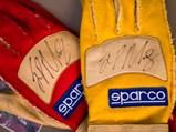 Juan Pablo Montoya Worn and Signed Gloves - $