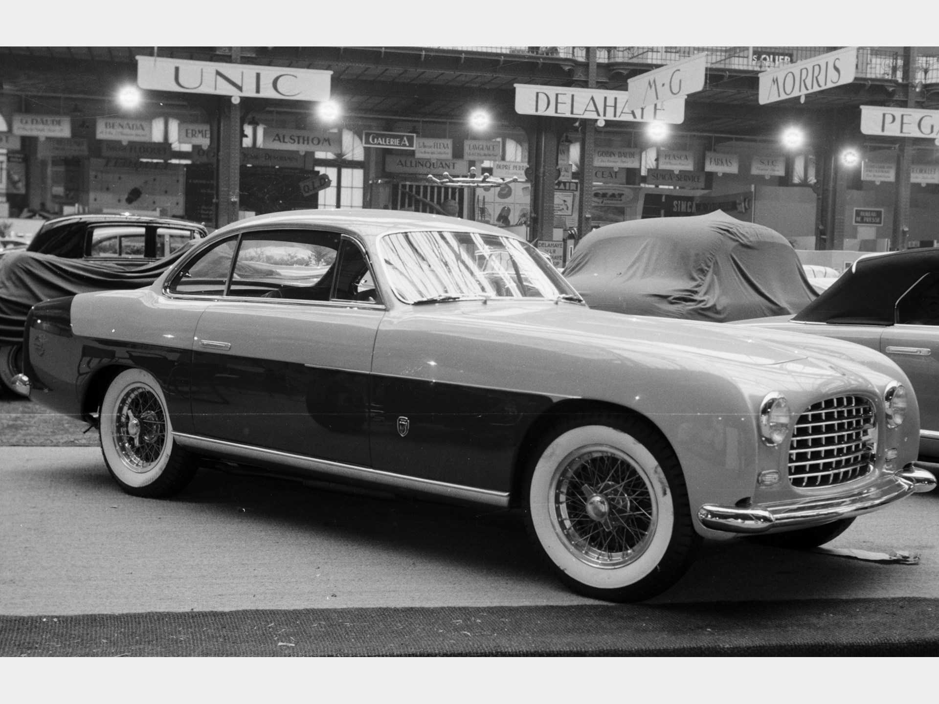 The Ferrari 212 Inter on display at the 1952 Paris Motor Show.