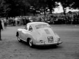 1959 Porsche 356 A 1600 Super by Reutter - $Donald Campbell CBE, driving his Porsche 356 A 1600 at the 1959 Bleriot Anniversary Race
