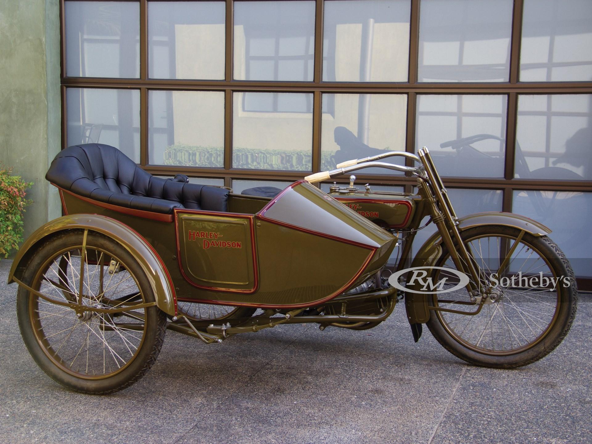 1918 Harley-Davidson Model J with Sidecar  -