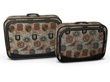 Pair of Automotive-Themed Suitcases - $