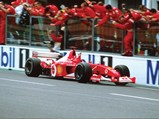 2002 Ferrari F2002  - $Michael Schumacher drives F2002 chassis 219 to victory at the 2002 French GP, securing his fifth F1 World Drivers Championship.