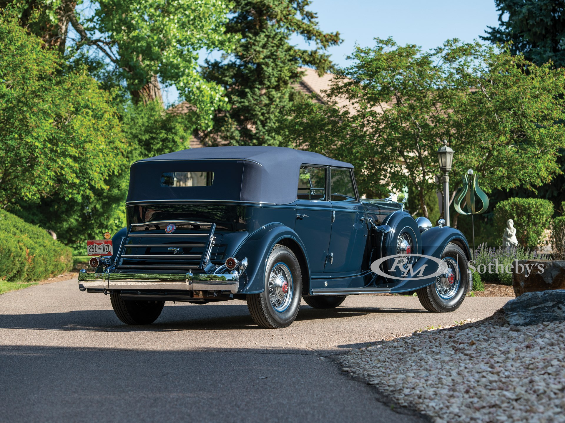 1934 Packard Twelve Individual Custom Convertible Sedan by Dietrich -