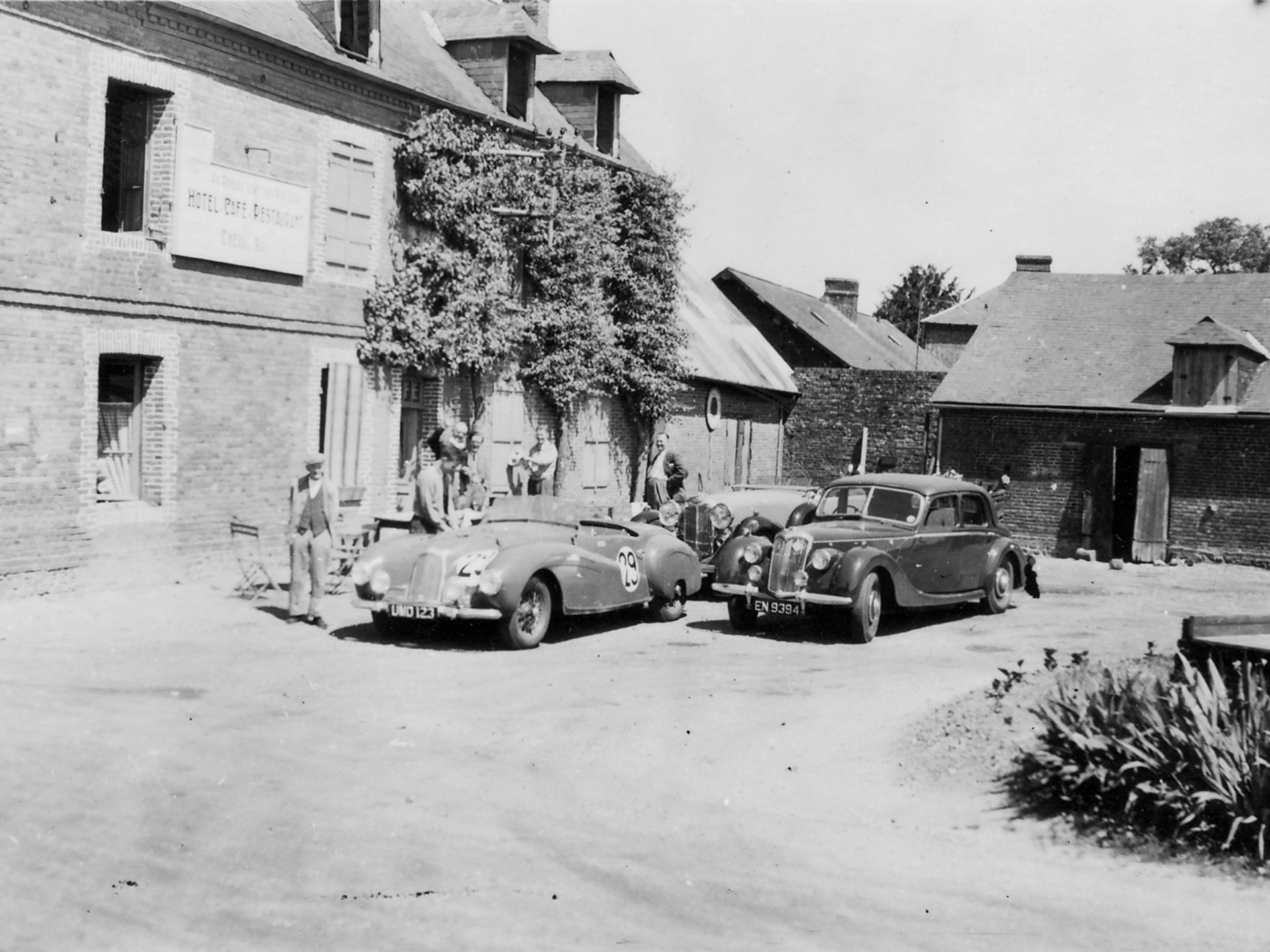 The 2-Litre Sports pictured in France prior to the 1949 24 Hours of Le Mans.