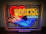 Hooker Headers Custom-Made Neon Tin Sign - $