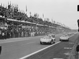 1960 Porsche 718 RS 60 Werks  - $The RS 60 as seen shortly after the start of the 1960 24 Hours of Le Mans.