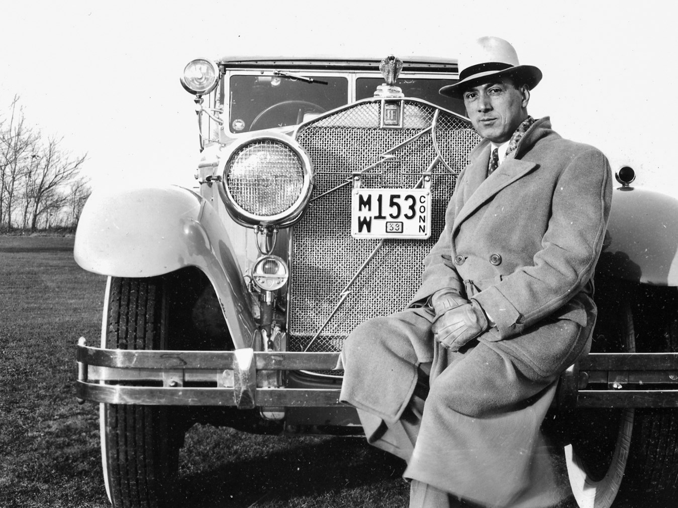 Owner Paul Cofrancesco and 'The Grey Goddess,' in 1939.