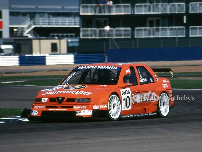 KX4G6B Michael Bartels, Alfa Romeo 155 V6 TI, International Touring Car Championship, Silverstone Aug 17th 1996