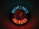 Hughes Bros. Packard Neon Clock - $