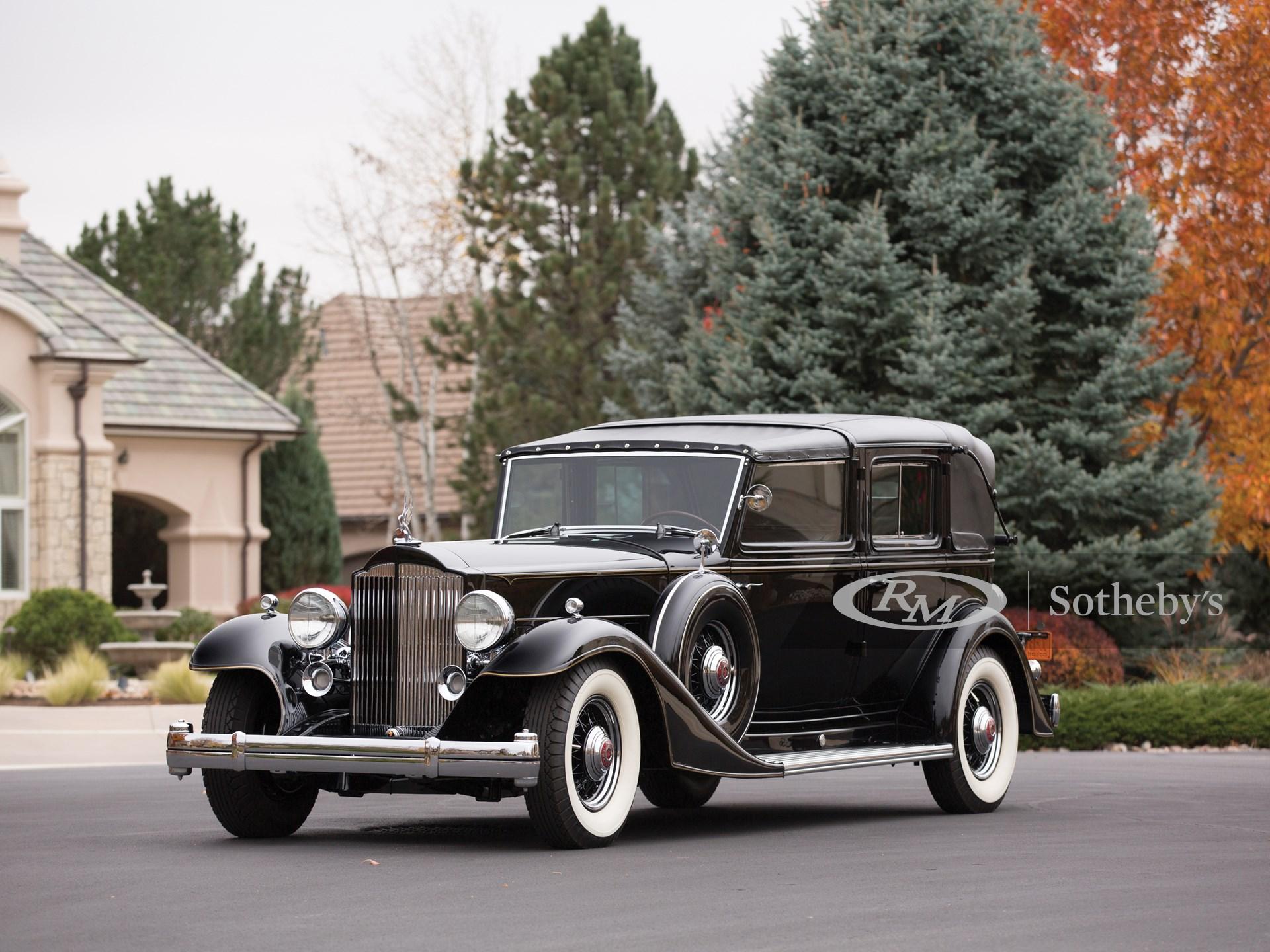 1933 Packard Twelve Individual Custom All-Weather Town Car Landaulet by LeBaron