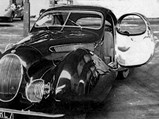 1937 Talbot-Lago T150-C SS 'Goutte d'Eau' Coupé by Figoni et Falaschi - $Chassis no. 90110 sitting inside the Talbot factory prior to World War II.