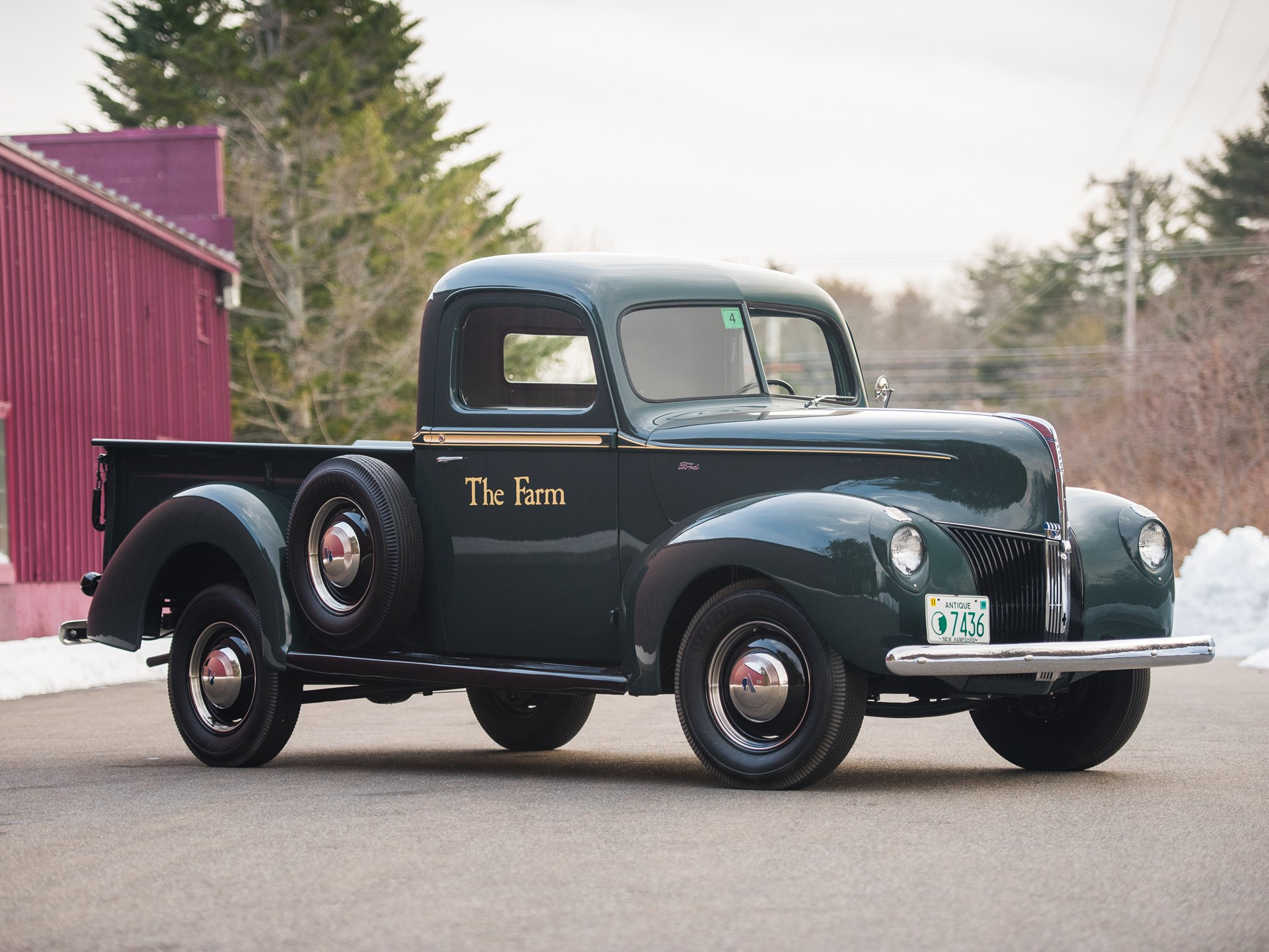Rm Sothebys 1940 Ford Ton Pickup The Dingman Collection 1955 F100 Long Bed Pick Up