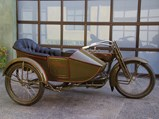 1918 Harley-Davidson Model J with Sidecar  - $