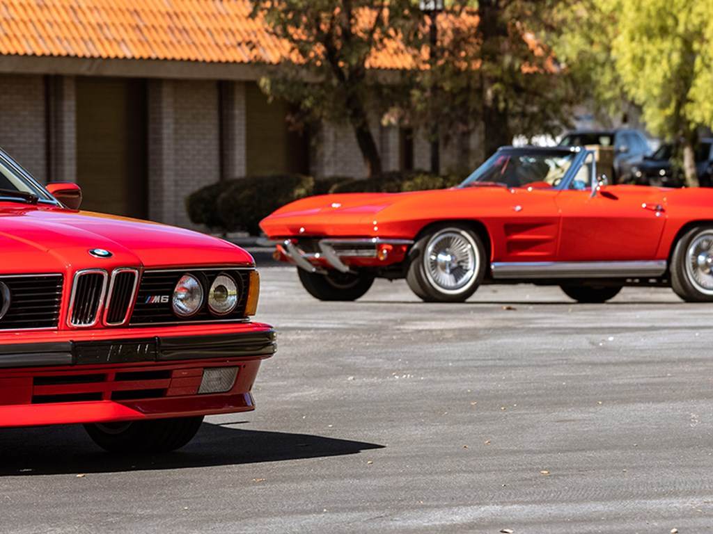 1988 BMW M6 and 1964 Chevrolet Corvette Sting Ray Convertible offered at RM Sothebys Open Roads February Auction 2021