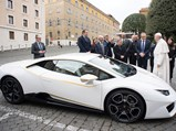 2018 Lamborghini Huracán RWD Coupé  - $His Holiness Pope Francis signs the Lamborghini Huracán at a ceremony in Vatican City in November of 2017.