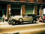 1930 Duesenberg Model J Imperial Cabriolet by Hibbard & Darrin - $J-254 outside Joe Kaufmann's regular haunt, the Hotel Auburn, during the ACD Club National Reunion in the late 1950s.