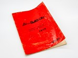 Ferrari Dino 246 GT Owner's Manual Set with Folio, 1974 - $