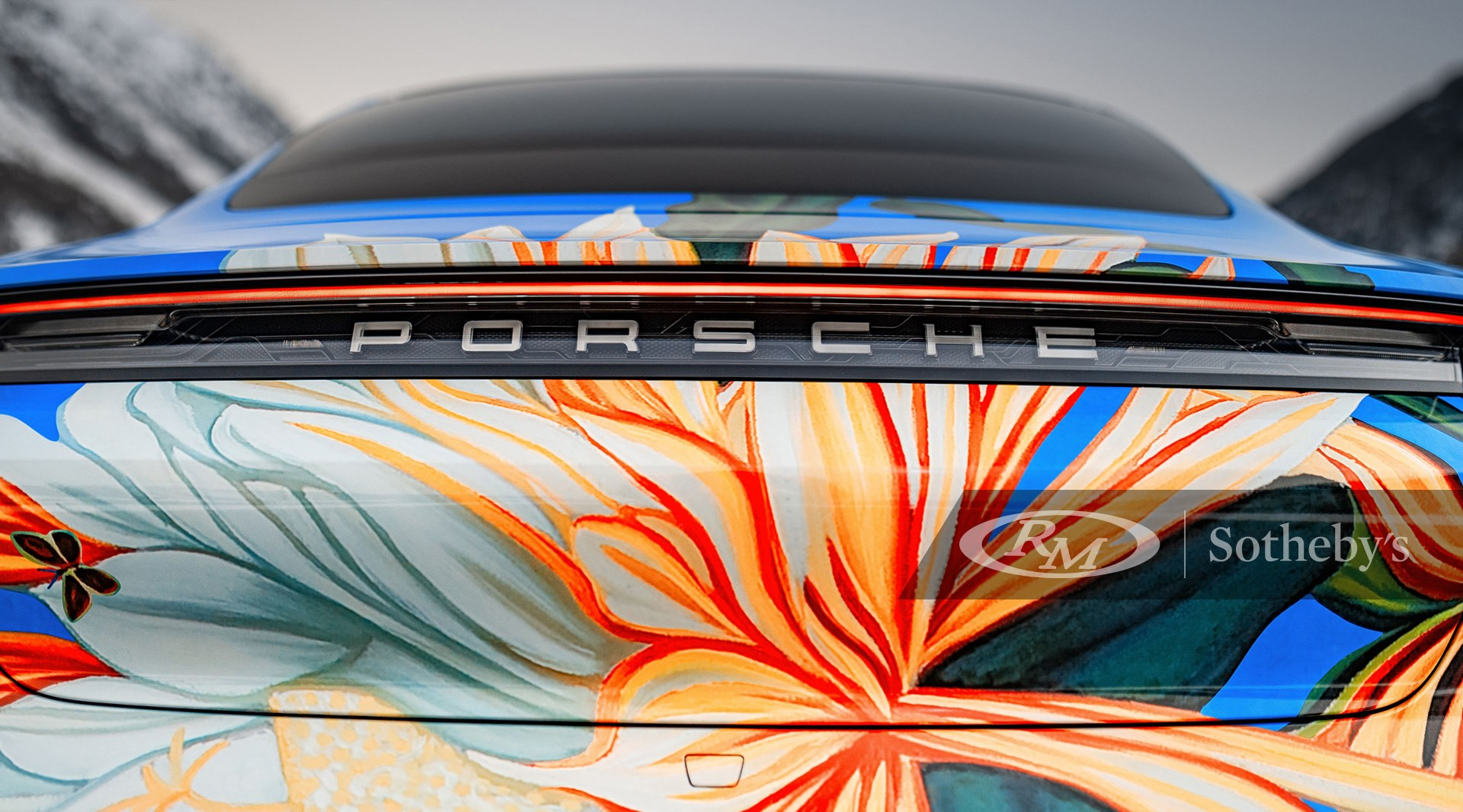 2020 Porsche Taycan 4S Artcar by Richard Phillips available at RM Sotheby's Online Only Porsche Taycan Charity Artcar Auction
