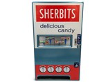 Sherbits-Themed Wall Mount 5¢ Candy Dispenser  - $