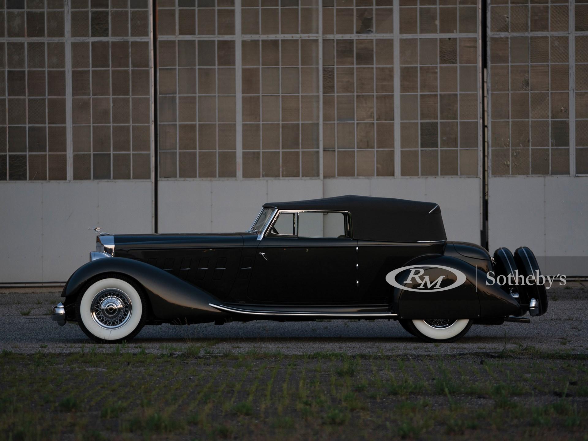 1934 Packard Twelve Individual Custom Convertible Victoria by Dietrich -