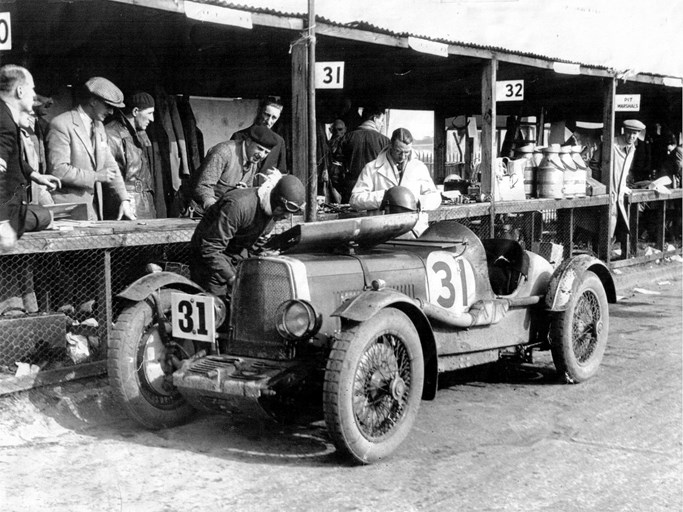 LM5 as seen at the 1931 Brooklands Double 12, where it finished 16th overall and 2nd in class.