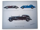 """Four Prints of Darrin Bodied Cars, Signed by """"Dutch"""" Darrin, ca. 1976 - $"""