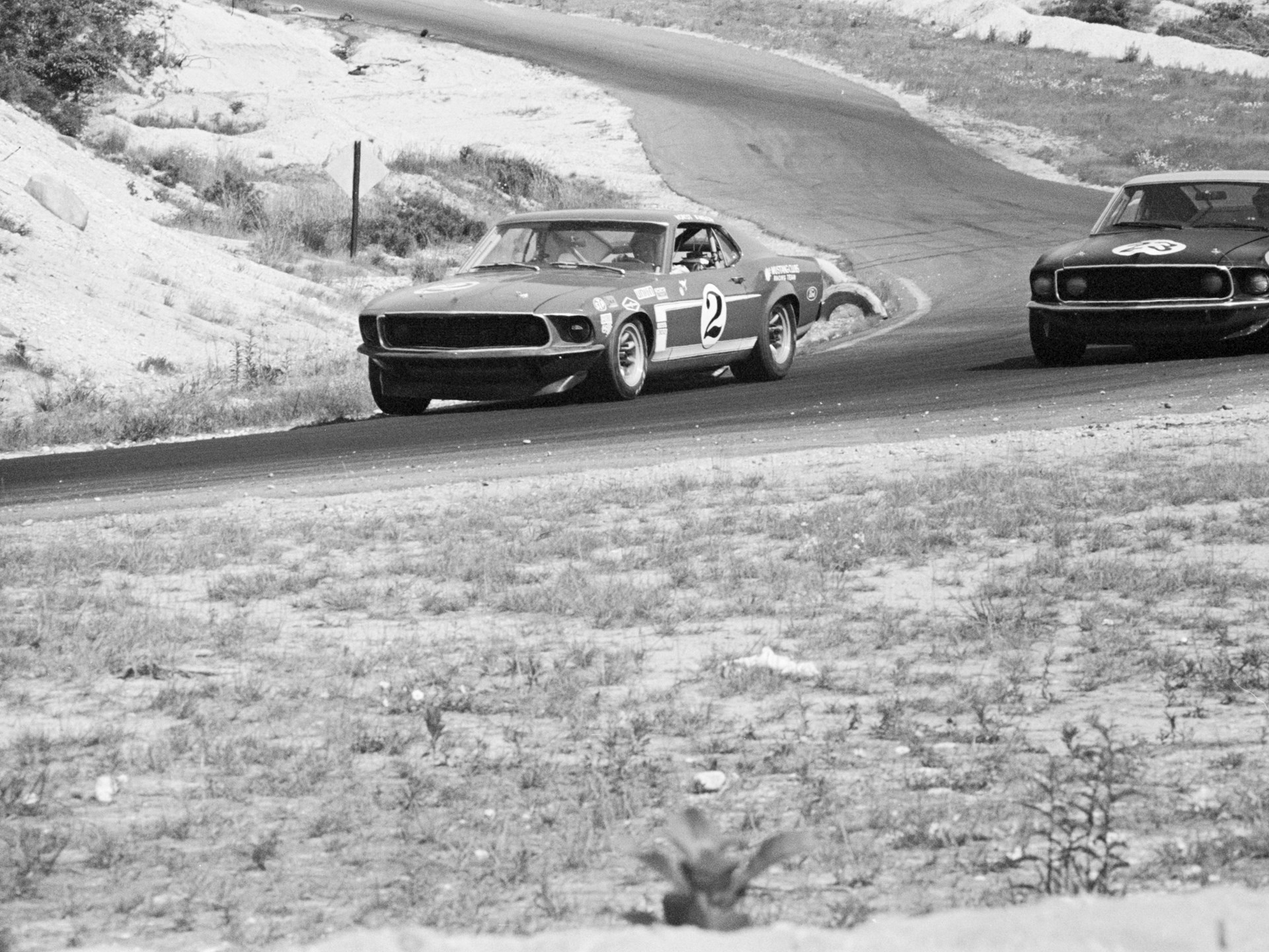 Horst Kwech behind the wheel of chassis no. 628 at the 1969 Trans Am race at Bridgehampton.