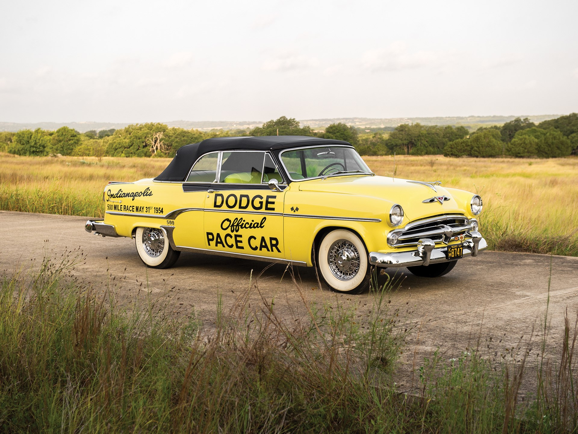 Rm Sothebys 1954 Dodge Royal 500 Indy Pace Car Edition Hershey 2014 Power Wagon