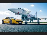 2016 Ferrari F12tdf '120th Anniversary'  - $The F12tdf photographed for Top Gear alongside a Eurofighter Typhoon.