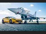 2016 Ferrari F12tdf '120th Anniversary'  - $The F12tdf photographed for Top Gear alongside a Eurofighter Typhoon.