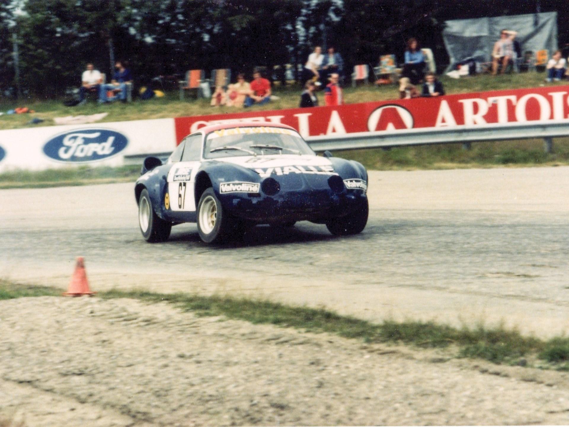 The Alpine Renault at speed at Valkenswaard.