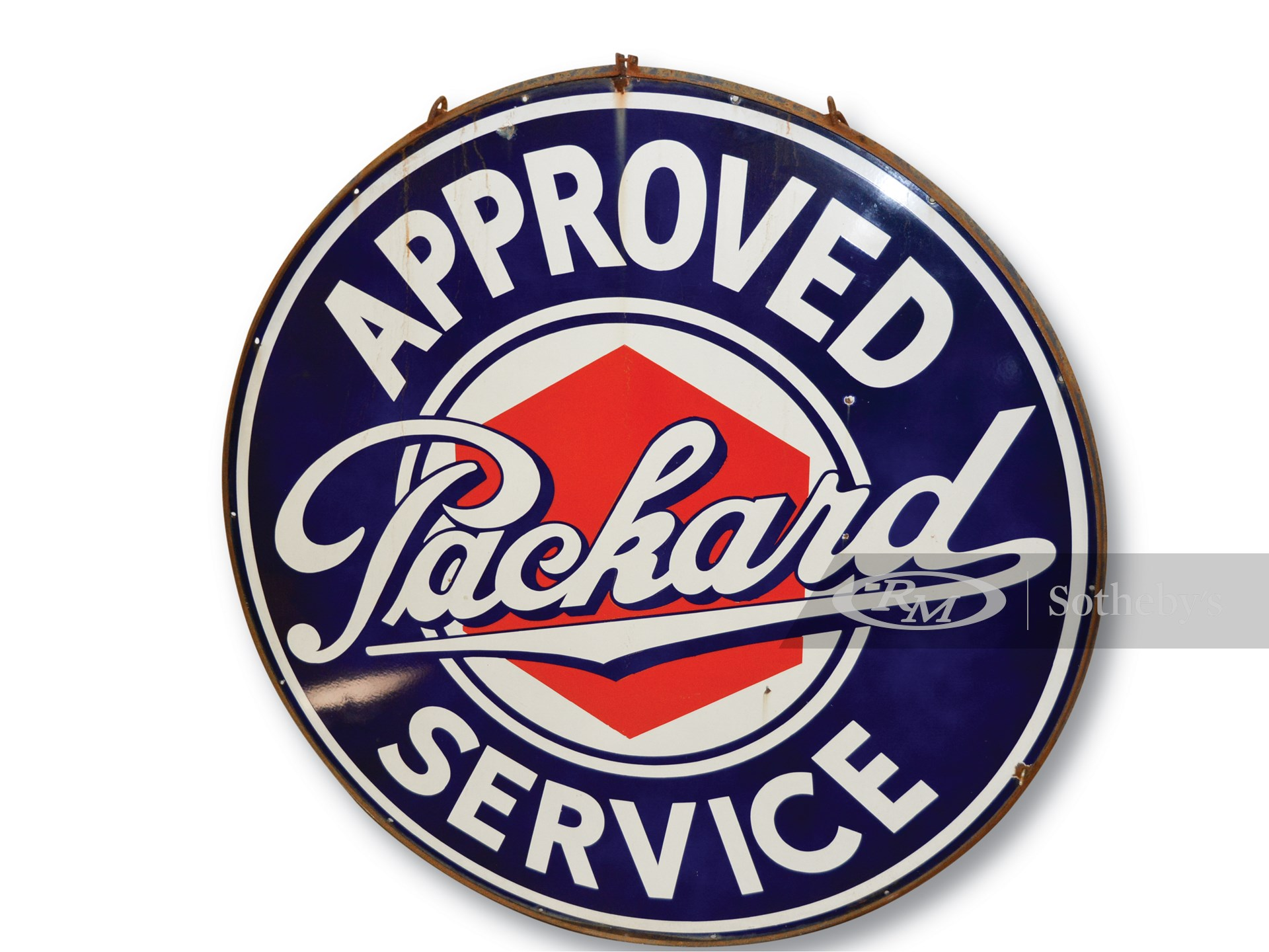 Packard Approved Service with Lug Nut Logo Sign -