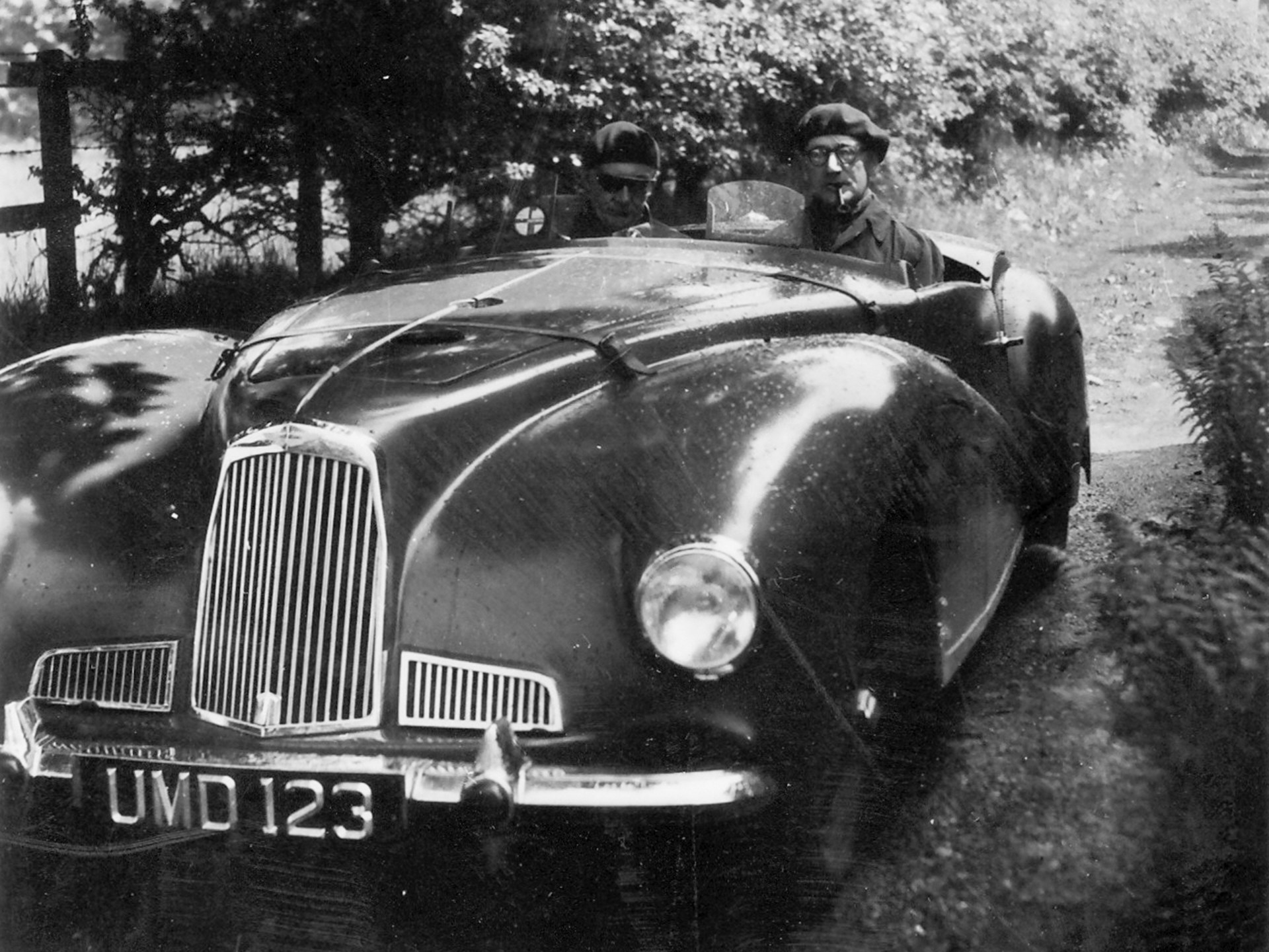 The 2-Litre Sports pictured with Robert Lawrie and Richard Parker.