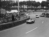 1954 Jaguar D-Type Works  - $OKV 2 at speed during the 1954 24 Hours of Le Mans.