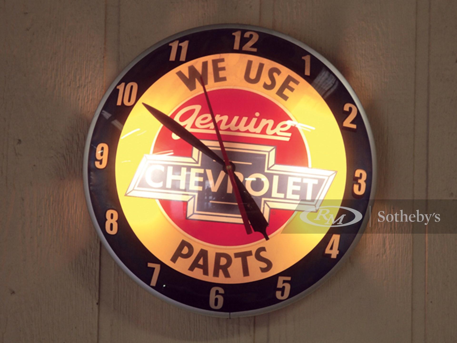 Reproduction Chevrolet Parts Double Bubble Clock | The ...