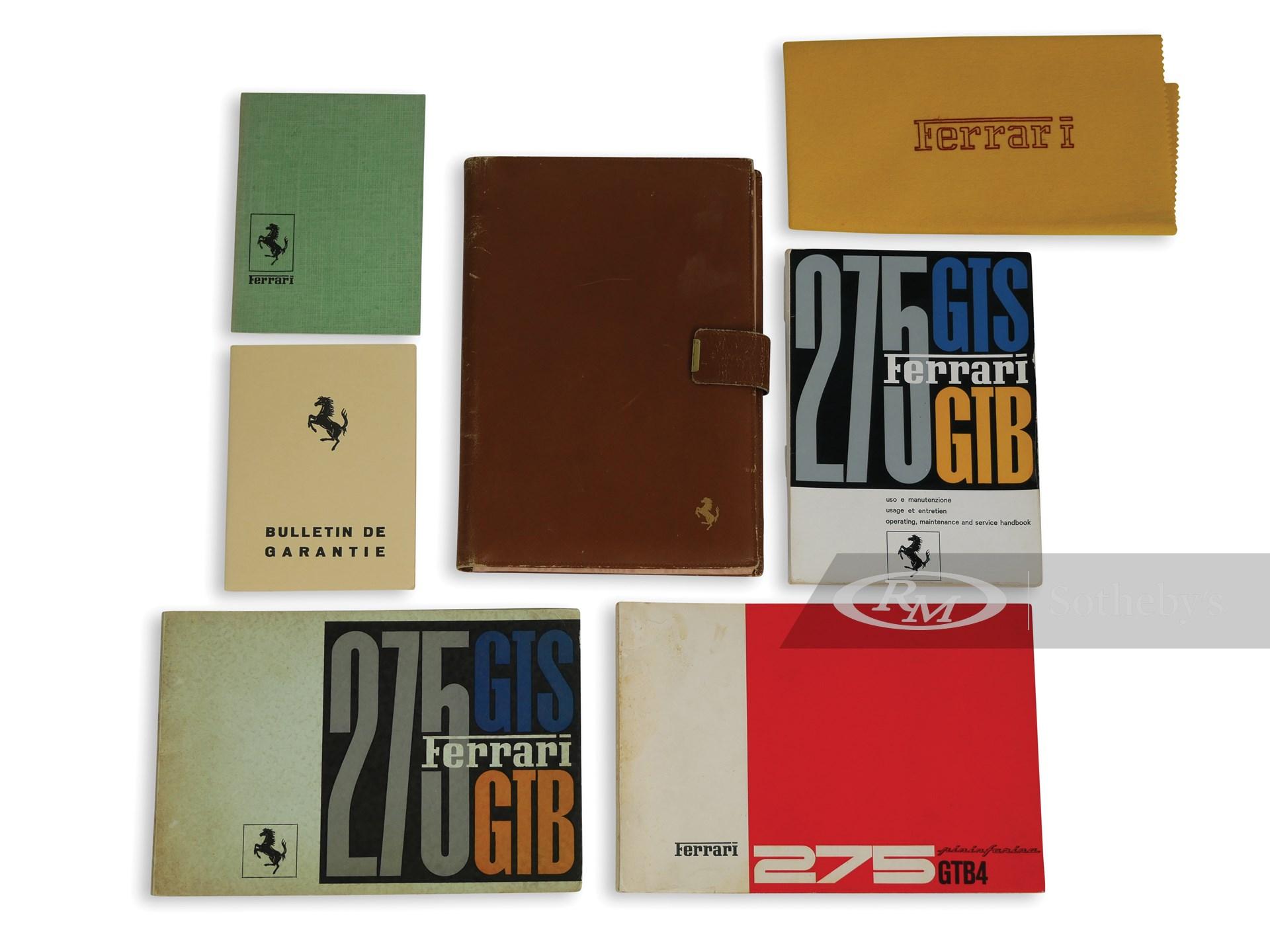 Ferrari 275 Manuals and Folio -