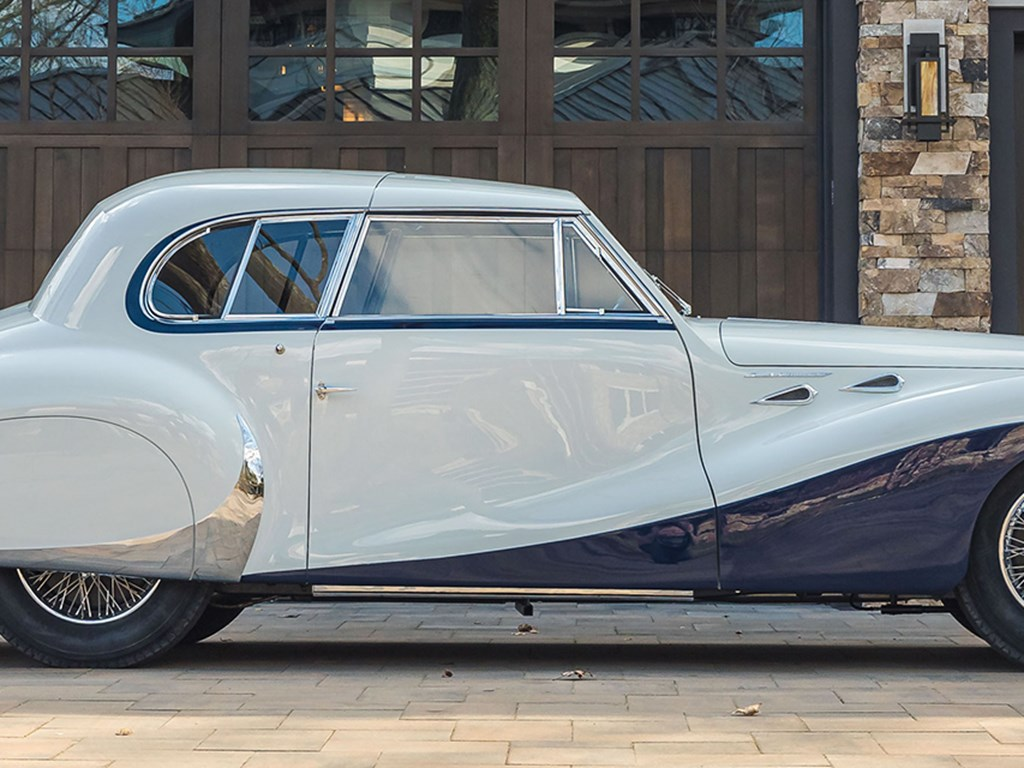 1948 TalbotLago T26 Record Sport Coupe de Ville by Saoutchik offered at RM Sothebys Amelia Island Live Auction 2021