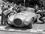 """1950 Ferrari 166 MM/212 Export """"Uovo"""" by Fontana - $The Uovo as seen at the 1952 Coppa Toscana where it was piloted by the Marzotto brothers."""
