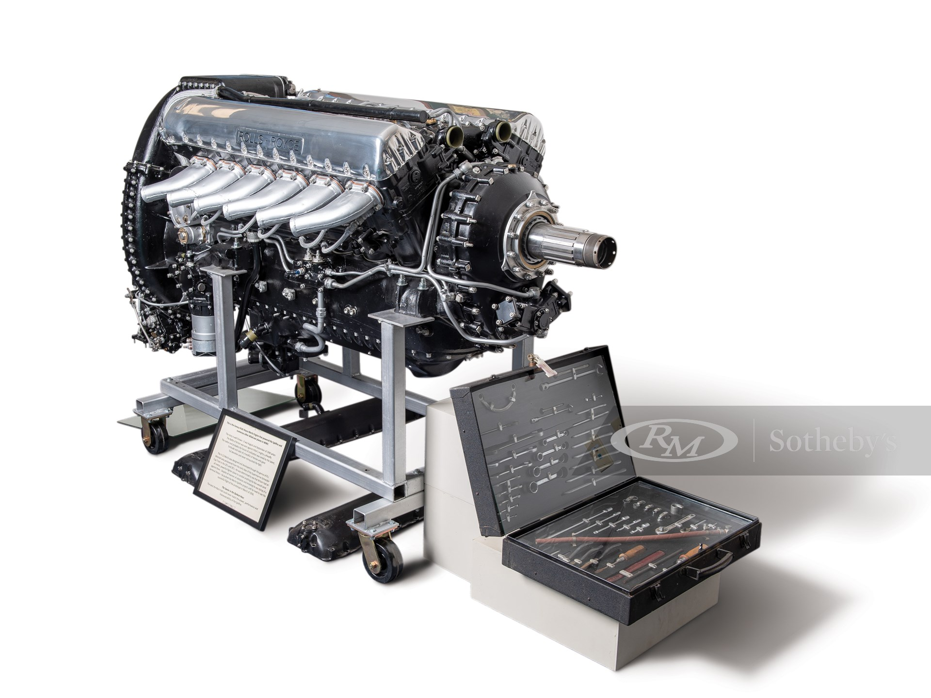 Rolls-Royce V-12 Merlin Display Engine and Service Tool Kit -