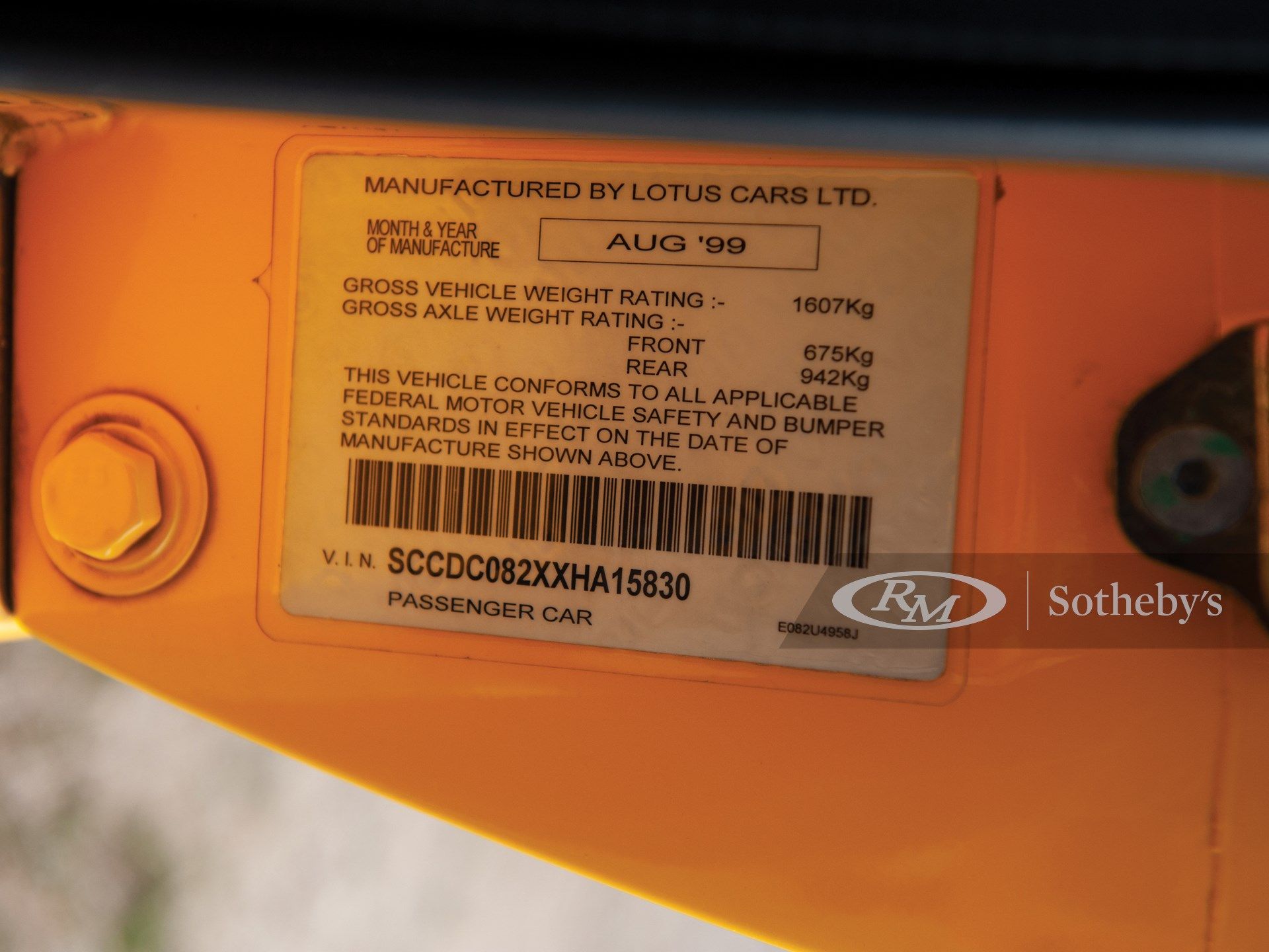 1999 Lotus Esprit V8  -