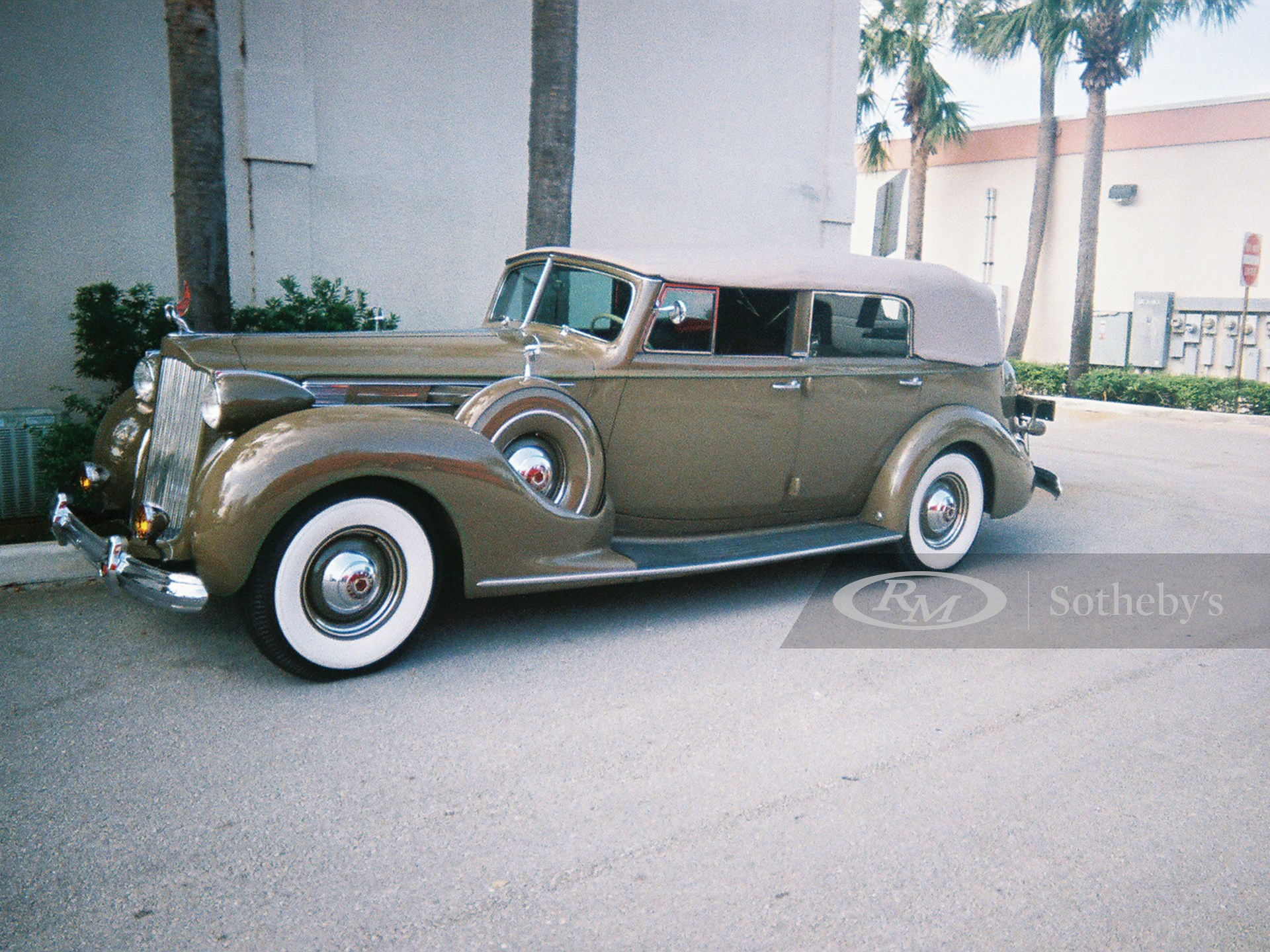 1938 Packard Model 1608 12 Cylinder Convertible Sedan  -