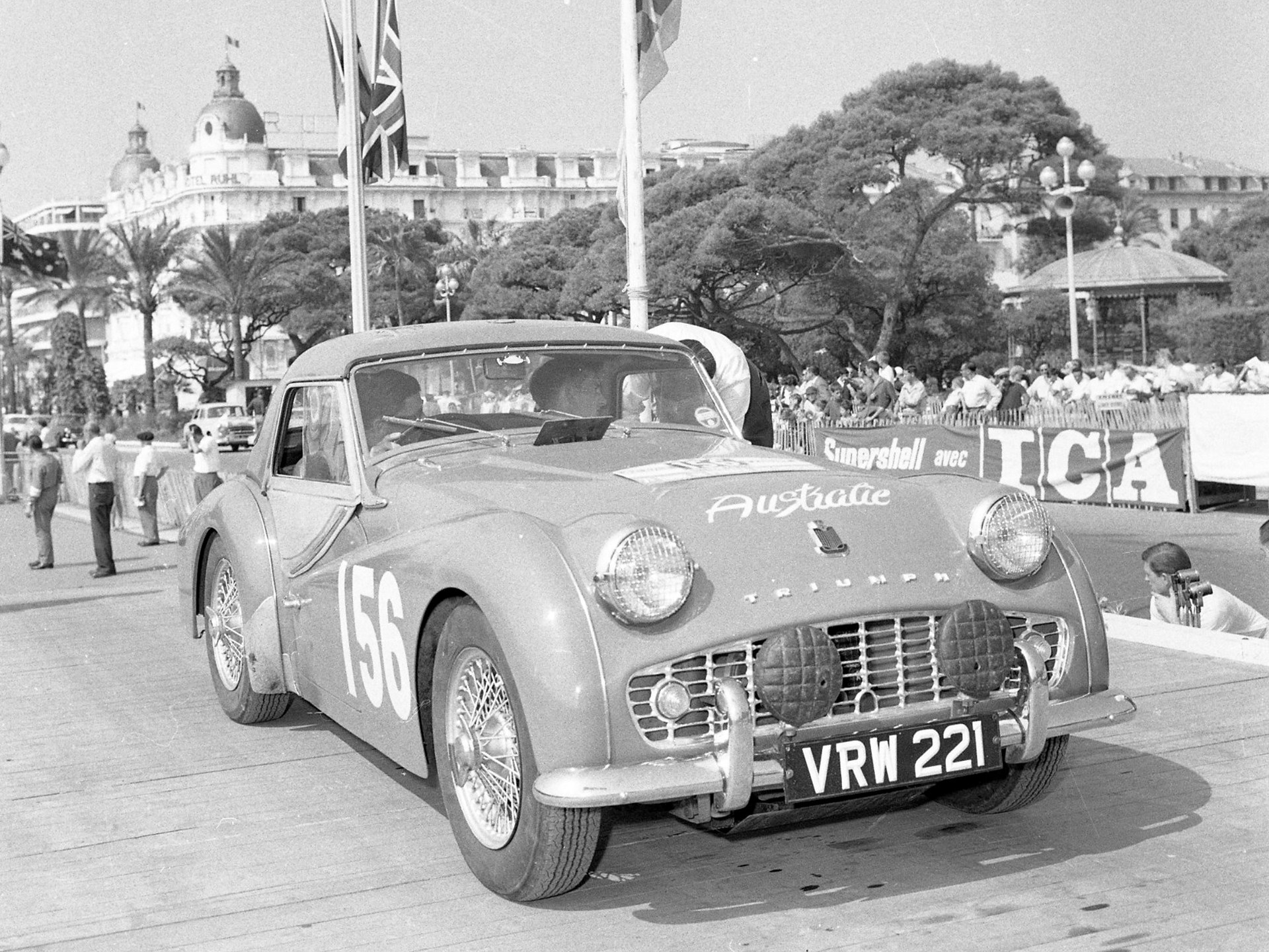 As seen at the start of the 1958 Tour de France in Nice on the Promenade des Anglais.