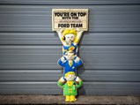 """""""You're On Top With The Werner Motor Ford Team"""" Double-Sided Plastic Sign - $"""