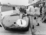 1956 Aston Martin DBR1  - $Nurburgring, Germany. 1st June 1958. Stirling Moss / Jack Brabham (Aston Martin DBR1), 1st position, pit stop and driver change, action. World Copyright: LAT Photographic. Ref: 4235.