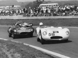 1955 Cooper-Jaguar T38 Mk II  - $The Cooper-Jaguar tries to fend off a pair of Ecurie Ecosse D-Types at Goodwood in April 1956.