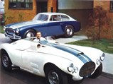 1952 Cunningham C3 Coupe by Vignale - $Briggs Cunningham poses outside of Alfred Momo's facilities in 1952 with chassis 5208 in the background.