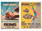 Reims 12 Heures Internationales Original Event Posters, 1958 and 1964 - $