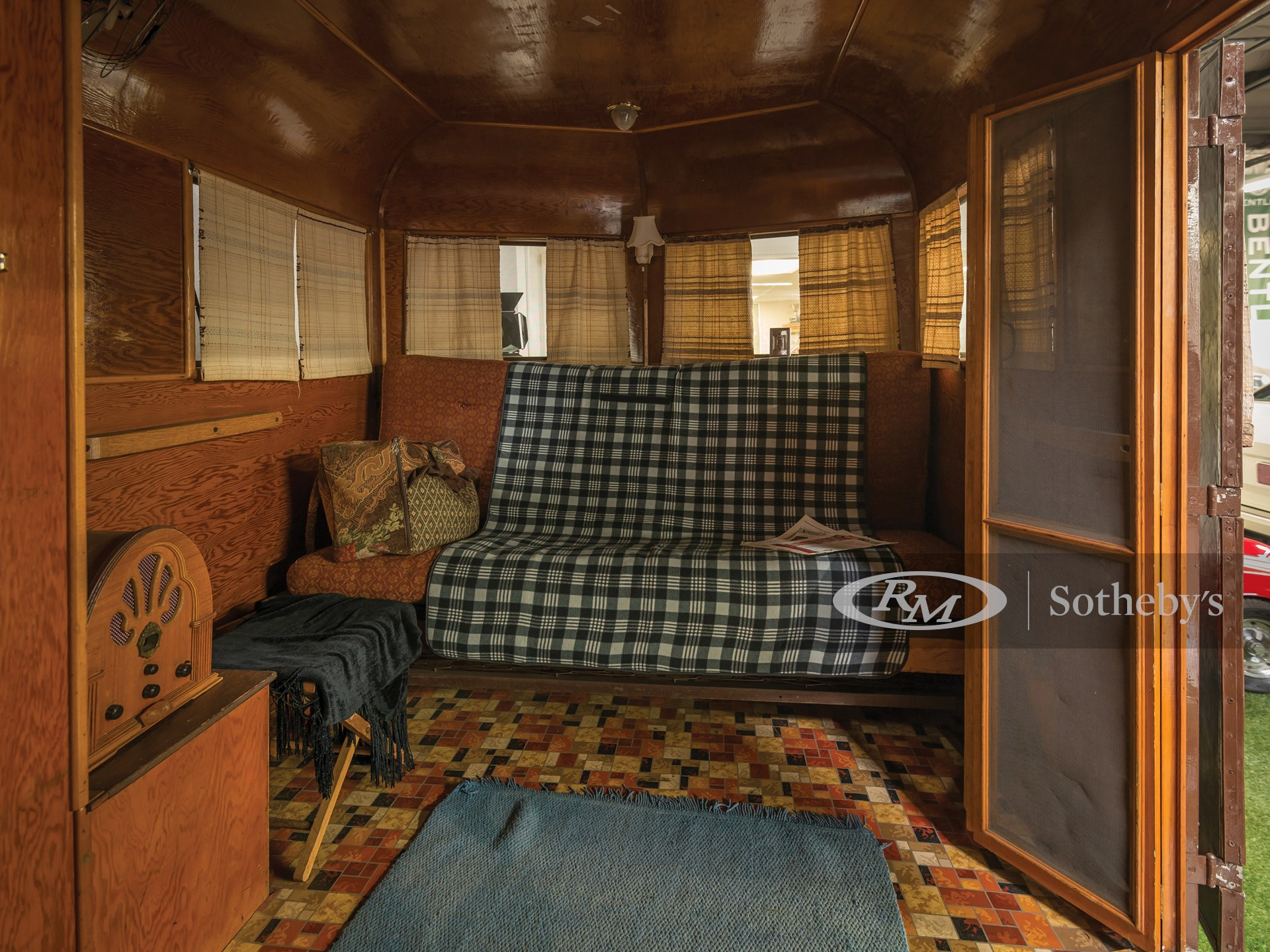 1934 Covered Wagon Camping Trailer  -