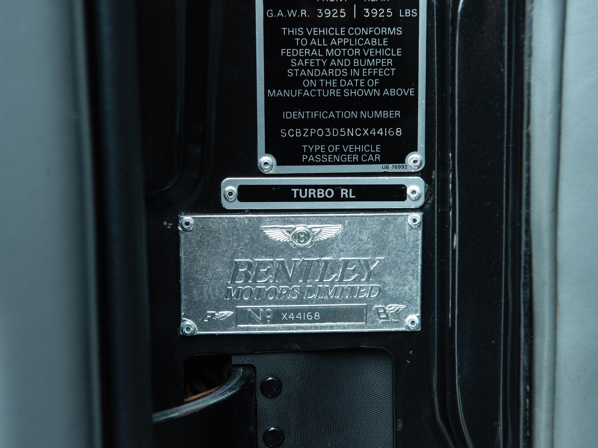 1992 Bentley Turbo RL